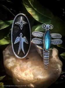 Star Bird & Kiowa Dragonfly Rings 2014
