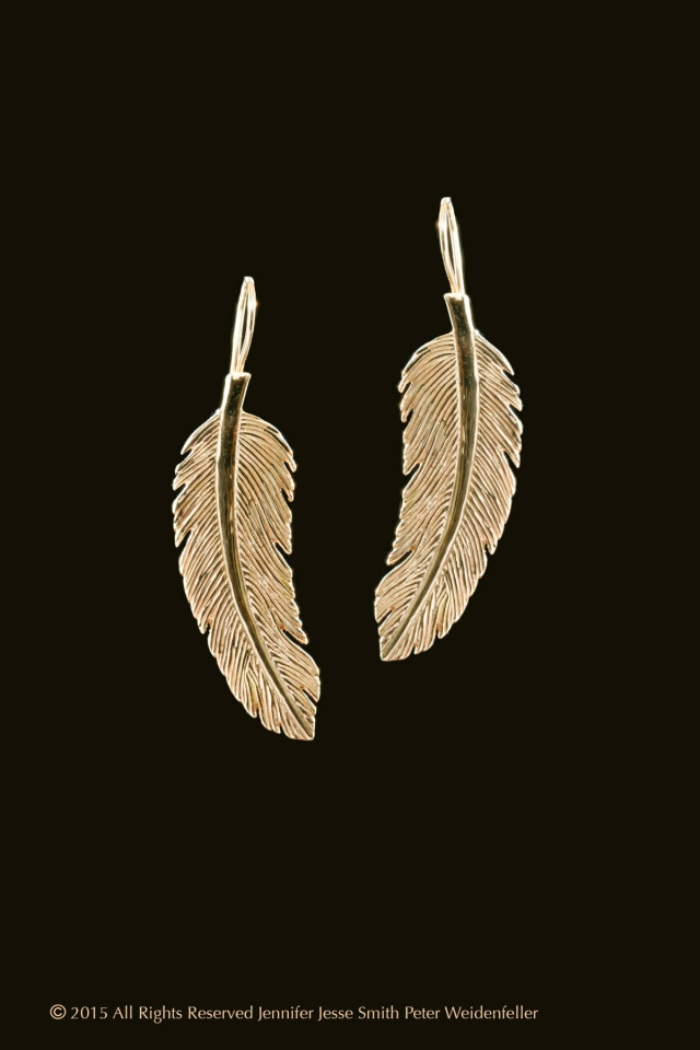 Light as a Feather Earrings 14k Gold copy