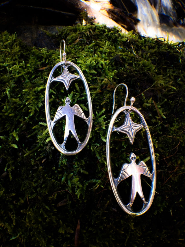 Star bird earrings 2017